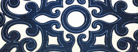 Navy and White Appliqué