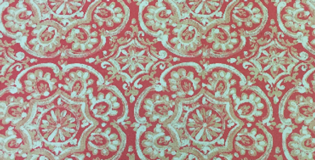 Coral Suzani Outdoor Fabric