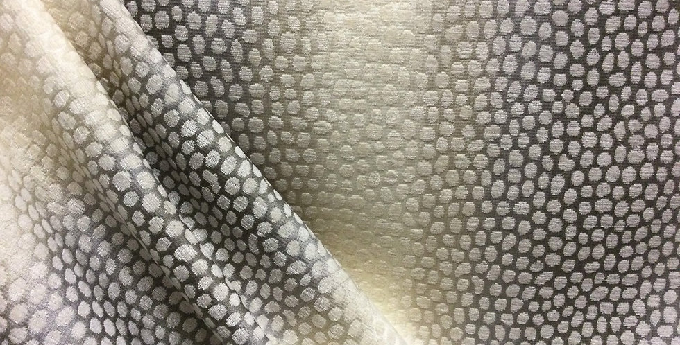 Myles Pearl - Polka Dot Fabric - Gray and Off White Fabric - Multicolor Neutral