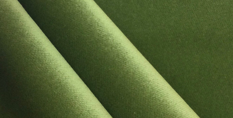 True Green Velvet - Velvet Solid - Solid Fabric - Non-Directional Fabric