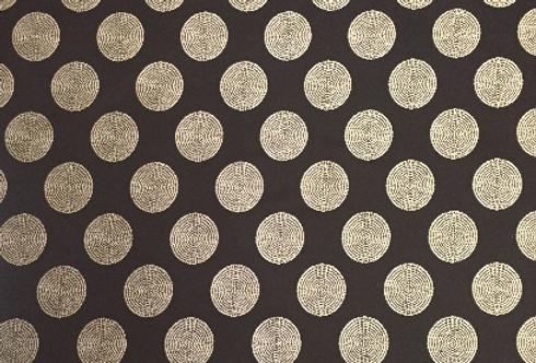 Brown Geometric Circles