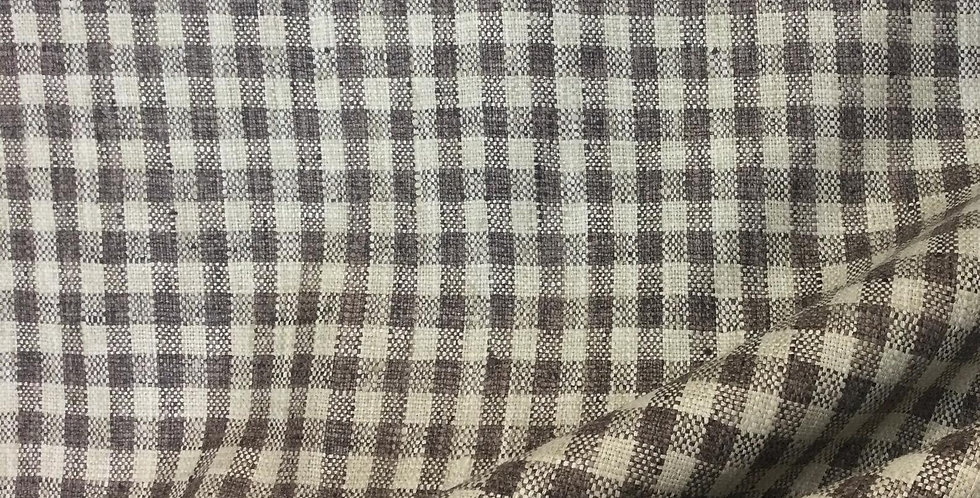 Zippy - Java Check - Check Pattern Fabric - Small Scale Plaid - Latte Brown