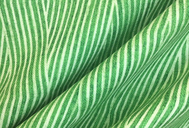 Biscayne Chameleon - True Green Patterned Fabric - Fabric by the Yard