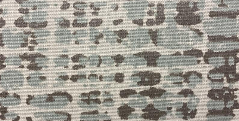 Powder Blue and Silver Metallic Water Drops - Unique Fabric - Home Decor Fabric