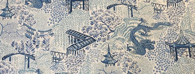 Mixed Blue Floral Pagoda - Vern Yip