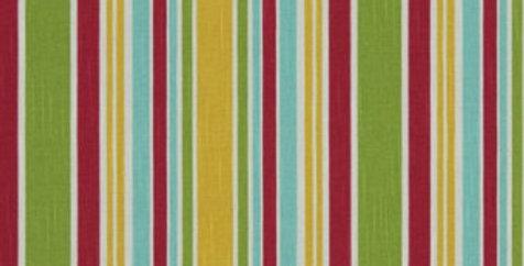 Aqua - Green - Red - Yellow - Railroaded Bright multicolored stripe