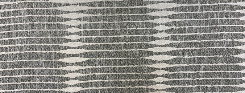 Wagner Pepper - Luxurious Geometric Upholstery Fabric- Gray and White - Modern G