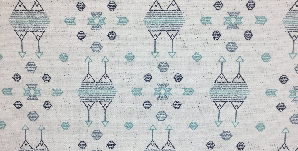 Woven Teal Abstract Tribal