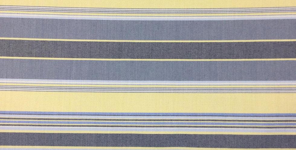 Yellow & Blue Railroaded Stripes