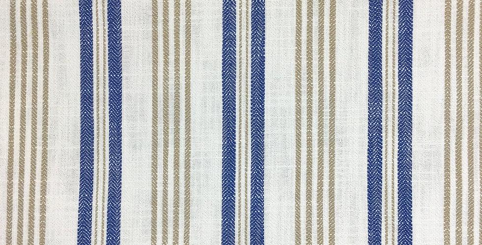 Indigo and Taupe Stripe