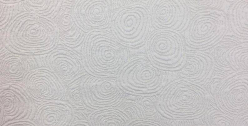 Shelford - textured fabric - white - swirl print - circles - cotton fabric - uni