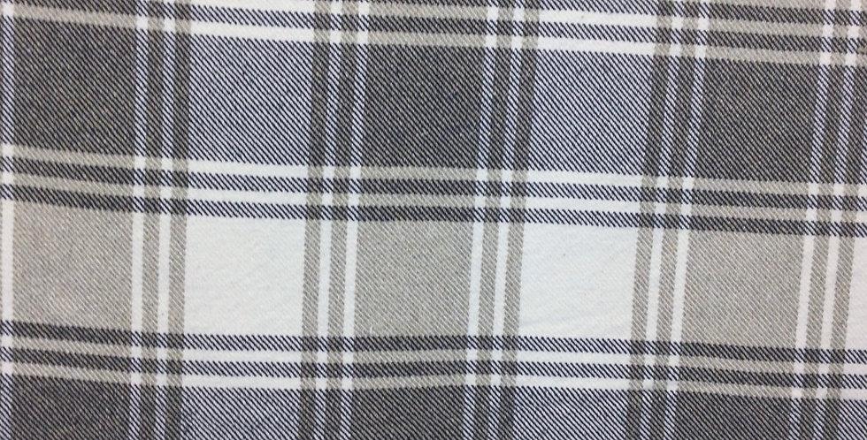 Sheldon Midnight - Upholstery Plaid - Beige - White - Navy - Plaid Pillows