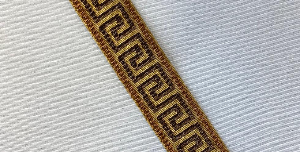 Brown and Copper Greek Key Tape Trim - Java