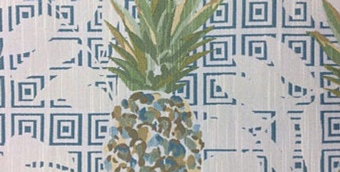 Teal - Yellow Gold - Green - Pineapple Paradise - Pineapple Fabric