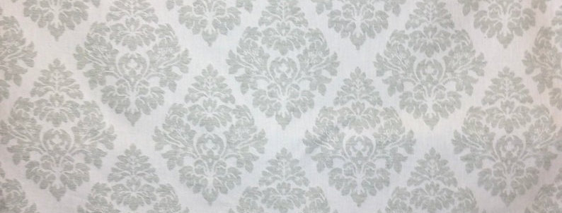 Sea foam Damask - Upholstery Fabric - Textiles - Cloth - Pillow Covers - Ottoman