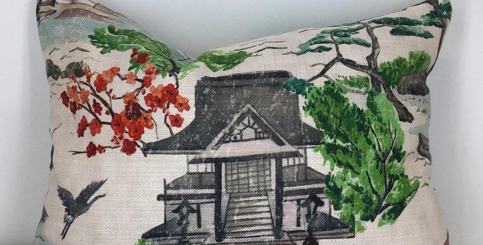 "Zen Pagoda - Identical Backing - 14"" x 20"""