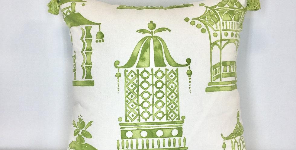 Green Pagoda Pillow