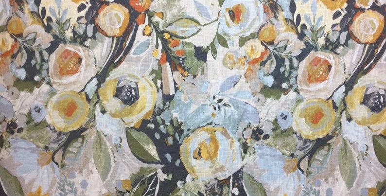 Covent Garden Natural - Hamilton - Floral Home Decor Fabric - Fabric - Drapery F