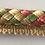 Thumbnail: Pink - Green - Basket Weave - Lipcord