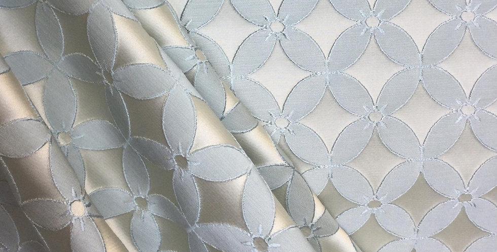 Blue Drapery Fabric - Floral - Blue Regal Fabric