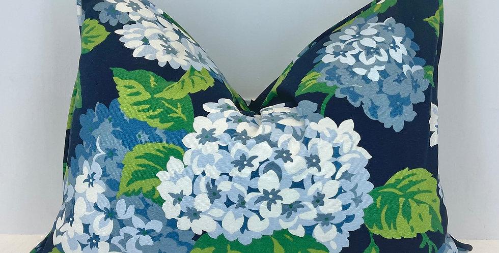 Summer Wind Navy Lumbar Pillow Cover