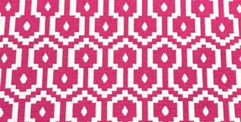 Pink And White Geometric