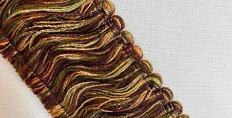 Brush Fringe - Sage, Moss Green, Salmon, Cream and Brown