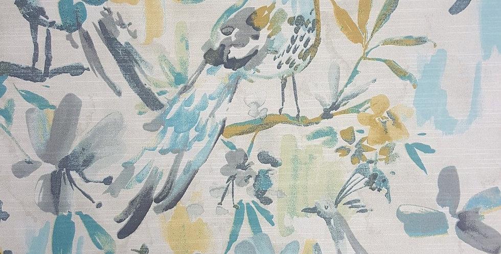 Aqua - Gray - Yellow Gold - Bird