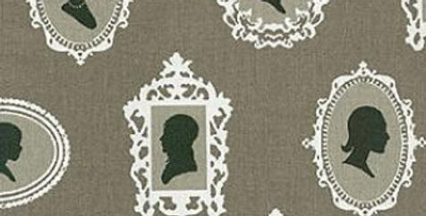 About Face Licorice Fabric