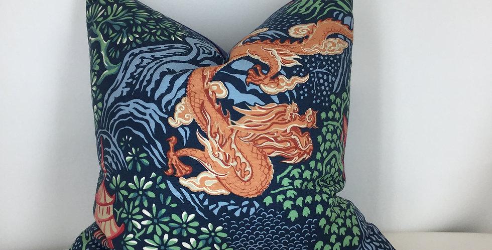 Pagoda Dragon - Blue Velvet