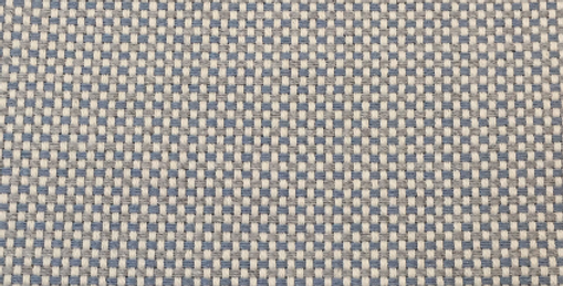 Small Baby Blue and White Woven