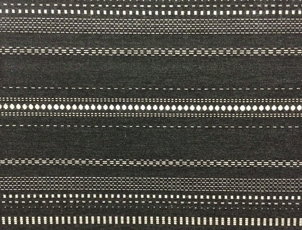 Copeland Shadow - Striped - Indoor/ Outdoor Fabric - Sunbrella - Dark Striped