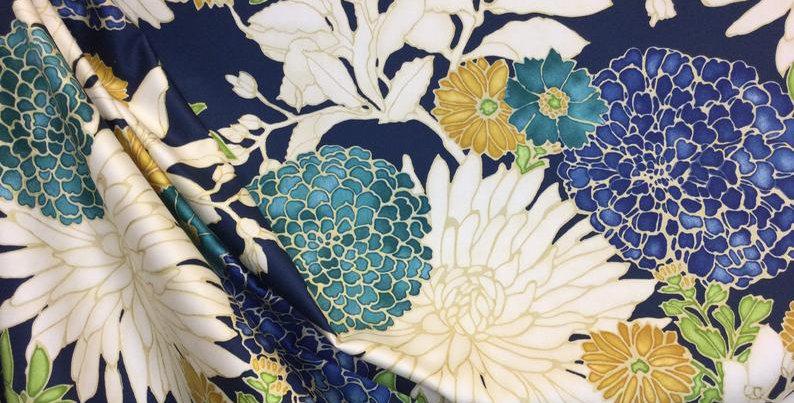 Richloom - St. Moritz Caribbean Twill - Floral Drapery Fabric - Fabric By The Ya
