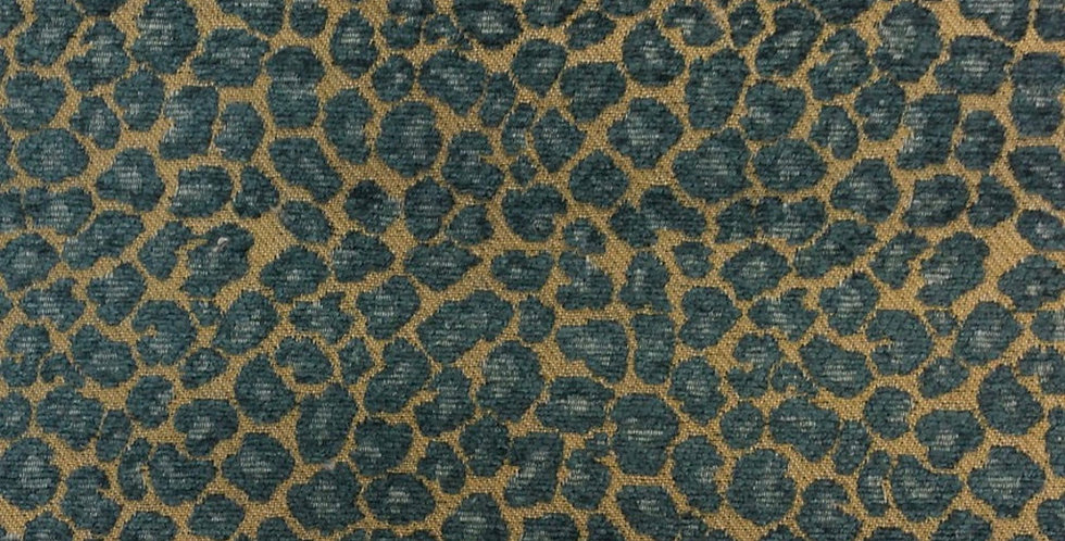 Teal Spots - Cheetah - Fabric by theYard