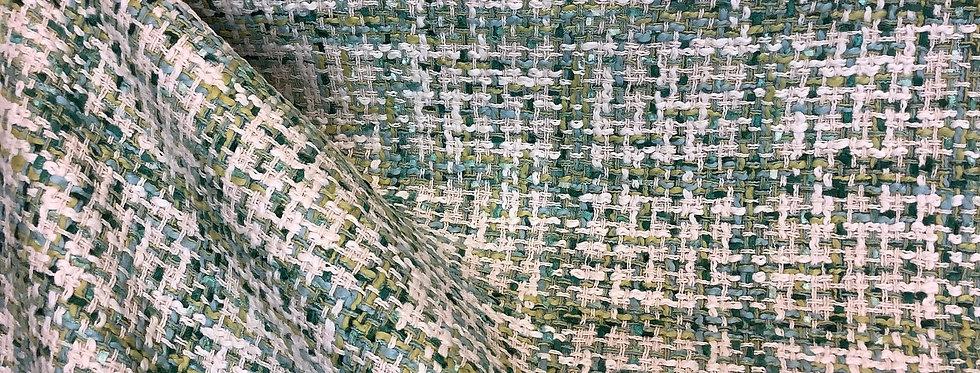 Gibson Emerald - Pistachio Green - Shiny Emerald - Aqua - Off White - Woven