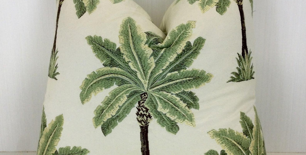 Palm Tree - Pillow Cover - Knife edge - Green - Brown - Neutral - home decor