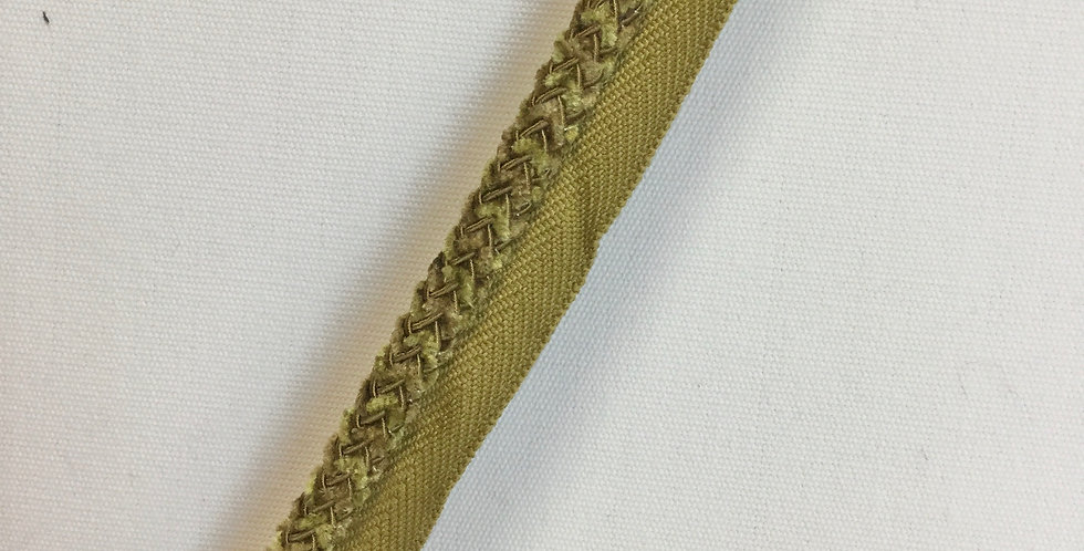 Green and Gold Braided Lip Cord