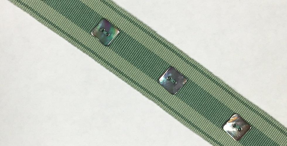 Sea foam Stripe - Square Button