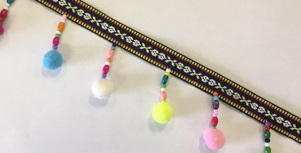 Multicolor Ball Fringe- Beaded Trim