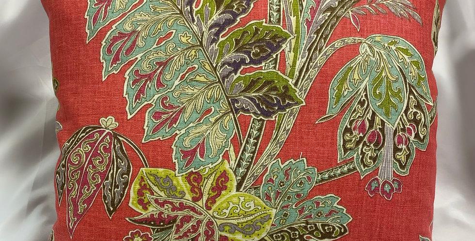 Kravet Ishana Floral Festival pillow cover