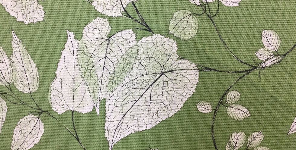 Arboretum Meadow - Plant Inspired Damask - Nature Green Fabric - Leaves