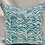 Thumbnail: Serengeti Seaside Pillow cover - blue - seaside - waves - two tone blue - pillow
