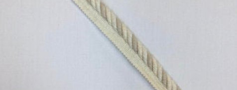 Off White and Light Taupe Lip Cord