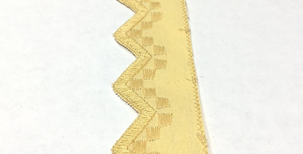 Yellow Embroidered Pennant Banner Trim