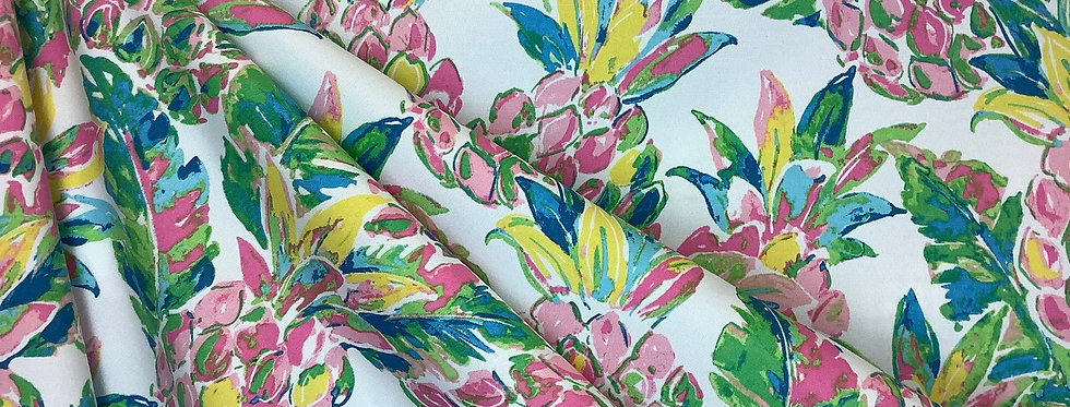 Vida Garden - Pineapple - Coastal - Novelty Fabric - Fabric by the Yard