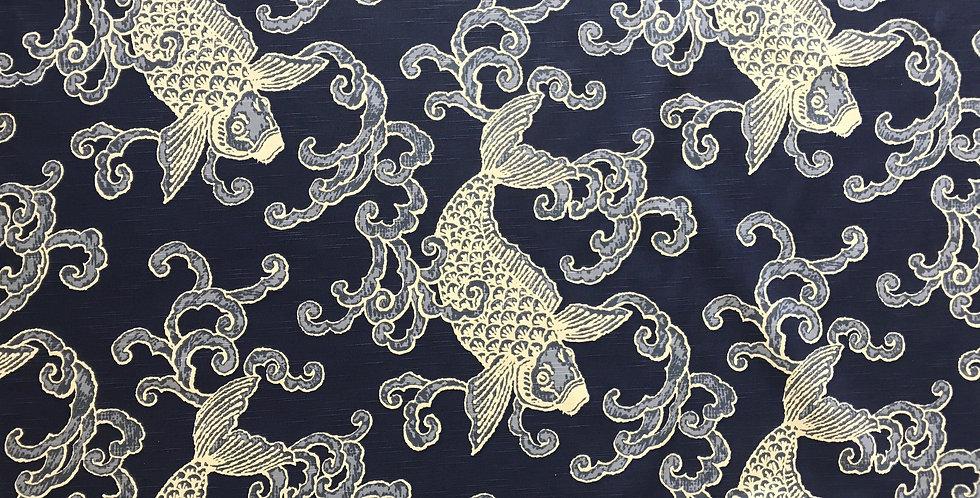 Koi Fish - Navy Blue and White