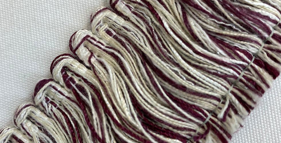 Seneca Burgundy and White Brush Fringe