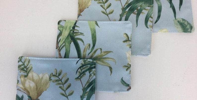 Tropical Cocktail Napkins - Set of Four - Fabric Coasters - Reusable Napkins