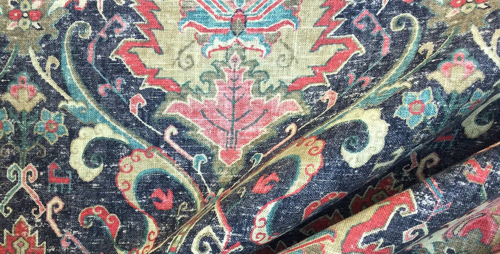 Karma Mardi Gras - Covington Fabric - Damask Pattern Fabric