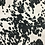 Thumbnail: Black and White Cowhide Fabric